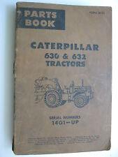 1964 CATERPILLAR 630 & 632 TRACTOR 14G1-UP PARTS BOOK MANUAL