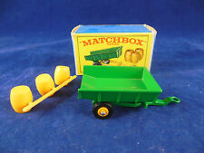 Matchbox Series By Lesney No 51 Green Tipping Trailer + Barrels mint