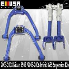 Front&Rear Camber Kits fit 2003-2008 Nissan 350Z Base Coupe 2D 3.5L BLUE
