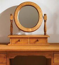 Hampton waxed pine furniture dressing table mirror