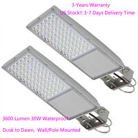 Waterproof Farm LED Security Street light Dusk to Dawn Outdoor 3600LM 30W 2 Pack