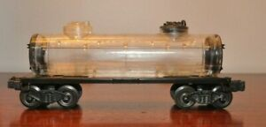 Lionel 2465 Clear Tank Car on Restored Frame and Trucks