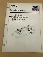 NEW HOLLAND Ford 42 48  Mower Attachment LGT Tractors OPERATORS MANUAL Owners