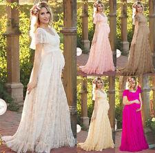 Pregnant Women Floral Lace Dress Ladies Maternity Photography Long Maxi Dresses