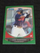 2013 Bowman Chrome Mini Refractor Green #166 Luigi Rodriguez Indians 41/75