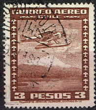 Chile Aircraft over Volcano stamp 1961