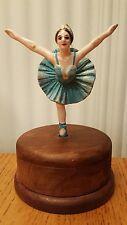 Swan Lake MUSIC BOX Porcelain/ceramic  BALLERINA Vintage Style MUSICAL FIGURINE
