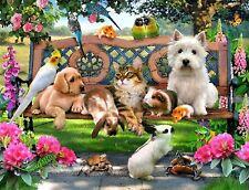 Animals / Pets / Dog / Cat / Rabbit Diamond Painting Partial / Round - 30x40cm