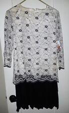 Vintage 1980's drop waist lace dress
