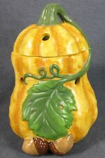 Yankee Candle Tarts Wax Melt Warmer Orange Gourd with Lid 2 Piece Chips READ