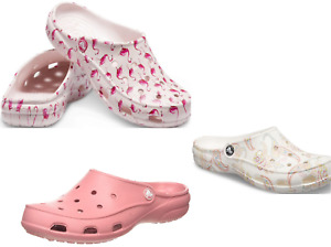 CROCS Freesail CLOG sandals  vegan pink flamingo, paisley white, blossom pink