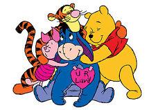 Winnie The Pooh & Friends FERRO su T-Shirt Trasferimento