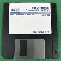 """CheckMate IV 2.00 Programming Software SCA Shimwa Communications, 3.5"""" Floppy"""