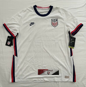 Nike USA 2020 Vapor Home Match Soccer Jersey CD0592-100 Men's Size XL