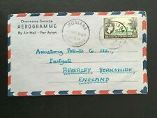 BRITISH SOLOMON ISLANDS 1962 AIR MAIL COVER TO ENGLAND