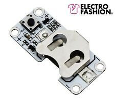 Electro Fashion Latching Switch & Coin Cell Holder E-Textiles Sewable Electronic