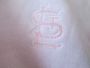 "St. Louis Cardinals Pink NWT ""Zip Up Hoody Sweatshirt"" LADY Size (M) Retail $49"