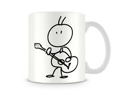 STK_034 Stick man - Playing a Guitar -  humorous gift funny custom personalised