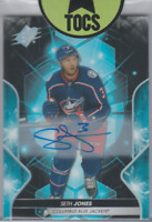 Seth Jones 2019-20 SPx Base Autograph Card Columbus Blue Jackets