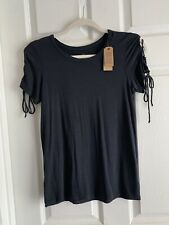 NWT Small American Eagle Soft & Sexy T Shirt Short Sleeve Lace Up Top Charcoal