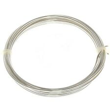 Copper Jewellery Craft Wire Silver Plated Non Tarnish 1.25mm - 3 Metres (C76/8)
