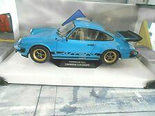 PORSCHE 911 G-Modell Carrera 3.2 3.0 Flügel blau blue 1984 Solido NEU 1:18