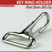 2 METAL KEYRING KEY RING BELT CLIPS KEY CHAIN STRONG HIPSTER  PULL CLIP BUCKLES