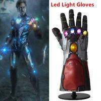 US! Iron Man Infinity Gauntlet LED Light Gloves Cosplay Avengers Endgame Prop