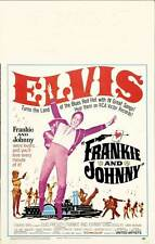 FRANKIE AND JOHNNY Movie POSTER 14x22 Elvis Presley Donna Douglas Harry Morgan
