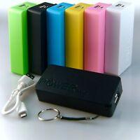 Powerbank mobiler Akku 5600 mAh USB Ladegerät Universal Smartphone 6 Farben