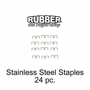 1940 - 1960 Ford & Edsel  Stainless Staples For Dust Shields Window Felts 24 pc.