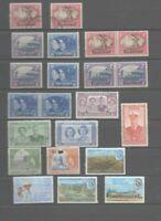 22 timbres Basutoland : 2  oblitérés - 20 neufs **
