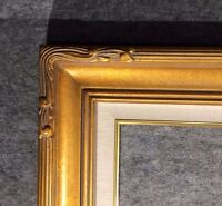 """5"""" WIDE Gold Leaf Ornate photo family Oil Painting Wood Picture Frame 607GL"""