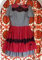 Vintage 1950s/60s gingham dress