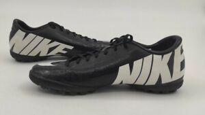 Nike Mercurial Vapor Black / White Astro Turf Football Boots Mens UK 7 EUR41
