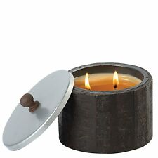 HIMALAYAN CANDLE - WOOD BARREL PISTACHIO - SMALL - NEW - A27921