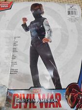 MARVEL Civil War WINTER SOLDIER Jumpsuit Boot Tops Belt Mask Costume S (4-6)