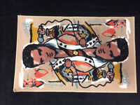 """Elvis Presley The King Of Hearts Card Face Tufted Rug NEW 20"""" x 30"""""""