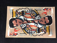 "Elvis Presley The King Of Hearts Suicide King Card Face Tufted Rug NEW 20"" x 30"""