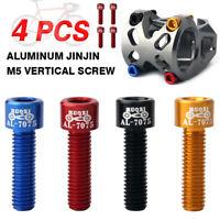 4pcs//bag Bicycle Handlebar Stem Screw M5x17mm Aluminum Alloy Bolt Fixed Gear  NP