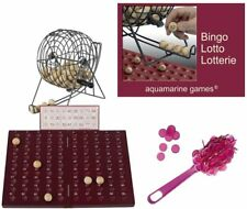 Loteria-Bingo, Madera y Metal. 90 Bolas de Madera Maciza con fichas magnéticas