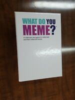 What Do You Meme? - Millennial Party Card Game - Open Box, New