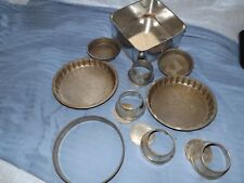 vintage tins bakeware cake flain pudding tins lot kitchenalia free uk post metal