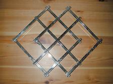 Dessous de plat extensible en métal argenté art-déco moderniste design J. Adnet