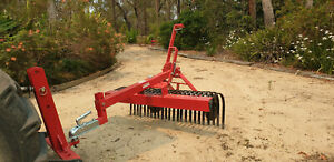 ATV stick rake Quad bike or mower towable 5 foot 1500mm wide brand new