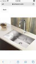 "Topmount 23"" x 18"" x 9"" Handmade Stainless Steel Single Bowl Kitchen Sink"