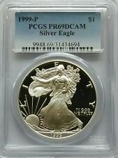 PCGS 1999-P SILVER Proof AMERICAN EAGLE Dollar $1 Coin PR69 DCAM 1oz .999 USA PF