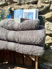 100% Cotton Soft Towels HAND BATH SHEET Bale Set CHARCOAL GREY FREE POSTAGE