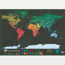 Travel Edition Scratch Off World Map Poster Deluxe Journal Log Map  Customized