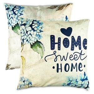 Pillow Covers 18x18 Designer Sofa Outdoor Floral Navy Blue